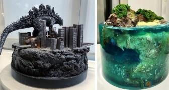 Une femme réussit à créer des gâteaux incroyablement détaillés et réalistes qui ressemblent à de vraies sculptures