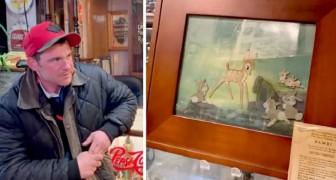 Hij ontdekt dat de dakloze hem een kostbaar schilderij heeft verkocht: hij spoort hem op om hem zijn deel te geven