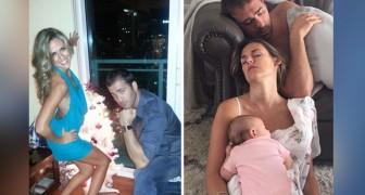 Ser mãe e pai: 17 comparações hilariantes de fotos que mostram as diferenças entre o antes e o depois