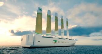 Questa nave da carico può sfruttare l'energia eolica e ridurre le emissioni di combustibili fossili del 90%