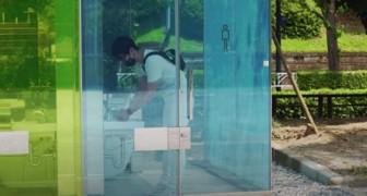 Tokyo: installano dei WC pubblici in vetro intelligenteche si opacizzano quando il bagno è in uso