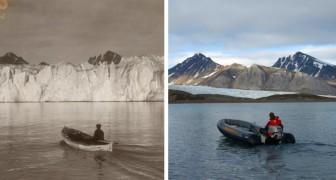 Un fotografo paragona gli stessi paesaggi a distanza di anni e mostra come il cambiamento climatico li abbia stravolti