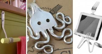 11 trovate super-creative per trasformare le vecchie posate in oggetti e decorazioni fantasiose