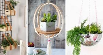 11 idee adorabili per arredare con vasi di piante appesi e portare un po' di verde in casa