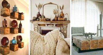 10 meravigliosi spunti d'arredo per decorare gli ambienti di casa in perfetto stile rustico
