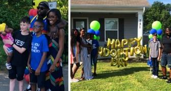 Um menino de 12 anos é oficialmente adotado pela família de seu melhor amigo - um sonho que se tornou realidade
