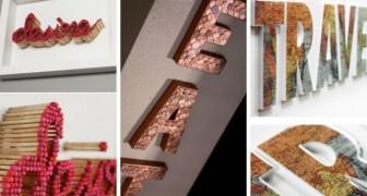 13 decorazioni super-creative a forma di lettera da realizzare col fai-da-te