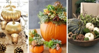 12 deliziosi centrotavola con le zucche per celebrare l'autunno con il suo frutto più amato
