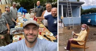 Un elettricista arruola tutta la comunità per ristrutturare gratis la casa di un'anziana in difficoltà