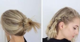 10 acconciature facilissime e veloci perfette per chi ha i capelli corti