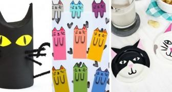 13 idee tutte da provare per realizzare irresistibili lavoretti a forma di gatto