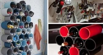11 trovate ingegnose per far ordine spendendo pochissimo grazie ai tubi in PVC