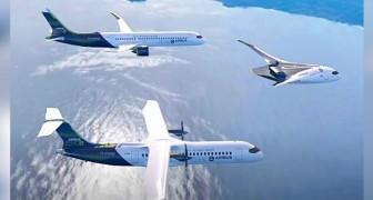 Airbus presenta 3 prototipi di aerei alimentati a idrogeno che promettono zero emissioni nocive
