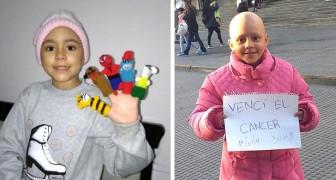 Esta menina venceu o câncer após 52 sessões de quimioterapia: ninguém é tão forte quanto ela