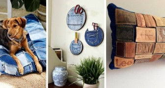 10 trovate originali per riciclare i jeans in modo creativo e ricavarne tanti oggetti utili