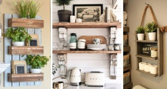 10 spunti irresistibili per decorare mensole e scaffali creando un perfetto stile farmhouse