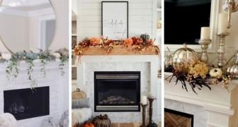 11 proposte incantevoli per decorare la mensola del camino in perfetto stile autunnale