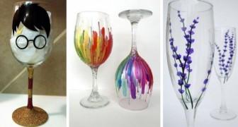13 idee super-creative per recuperare calici e bicchieri spaiati dipingendoli nei modi più originali