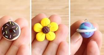3 splendidi ciondoli colorati e facilissimi da realizzare con l'argilla polimerica
