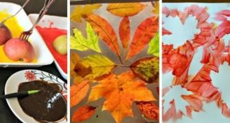 8 petits travaux de l'automne à tester pour s'amuser avec l'art sensoriel avec vos enfants !