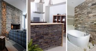 17 éléments d'ameublement élégants pour insérer des murs en pierre dans n'importe quelle pièce de la maison