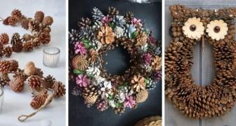 14 idee una più bella dell'altra per creare splendide decorazioni autunnali usando le pigne
