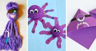 10 lavoretti creativi e divertenti per i più piccoli all'insegna del colore viola