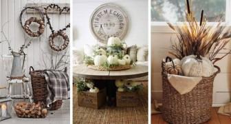 10 délicieuses décorations d'automne shabby-chic à copier