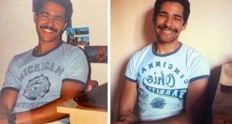 21 mensen probeerden een aantal oude familiefoto's na te maken met verbluffende resultaten