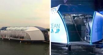 Interceptor, la barca mangia-plastica che con la sua bocca riesce a ripulire i fiumi più inquinati