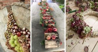 11 décorations automnales splendides à préparer chez vous avec des branches colorées, des feuilles et des fruits de saison