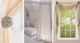 10 astuces charmantes pour accrocher et décorer vos rideaux de façon insolite