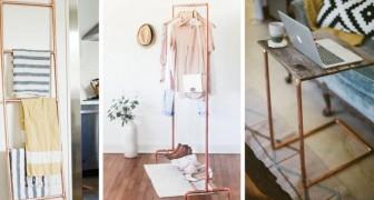 10 irresistibili progetti fai-da-te per arredare la vostra casa con i tubi di rame