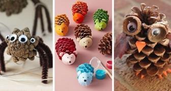 9 superbes sculptures en forme d'animaux à réaliser en recyclant les pommes de pin