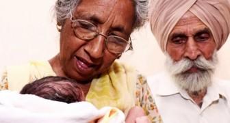 Elle donne naissance à son premier enfant à 72 ans : la femme et le mari réalisent leur rêve de devenir parents