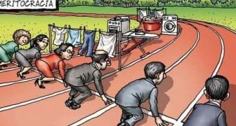 Diese Karikatur zeigt perfekt die Herausforderungen, denen sich berufstätige Frauen täglich stellen müssen