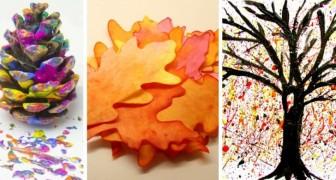 7 divertenti tecniche decorative ispirate all'autunno e ideali per i più piccoli