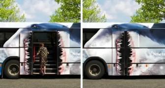 15 bussen met reclamecampagnes die te creatief en leuk zijn om niet opgemerkt te worden