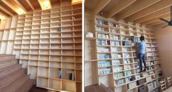 Questa libreria su cui ci si può arrampicare è l'ideale per chi riempirebbe la sua casa di libri fino al soffitto
