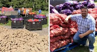 Un agriculteur appelle des amis et des organisations pour livrer 3 000 tonnes de nourriture aux nécessiteux