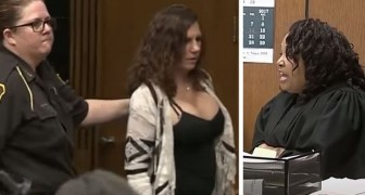 The mother laughs during her daughter's hearing: the judge sentences her to 93 days in prison