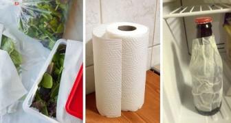 8 utilizzi pratici e alternativi della carta da cucina, ideali per semplificarsi la vita