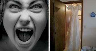 Ze ontdekt dat haar man haar bedriegt en laat de trouwjurk bij zijn minnares achter: geniet van tweedehands spullen