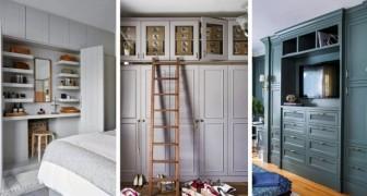 10 idee pratiche e meravigliose per inserire armadi a muro nell'arredamento di casa