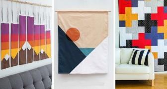 11 spunti da cui trarre ispirazione per realizzare splendidi quadri di stoffa con il patchwork