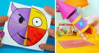 6 lavoretti di carta ricchi di inventiva da realizzare insieme ai bambini