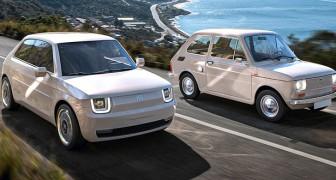 Uno studio di design ripensa la storica Fiat 126 in chiave attuale: linee moderne e motore elettrico