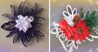 5 splendidi progetti di riciclo creativo per realizzare decorazioni di Natale con i rotoli di carta igienica