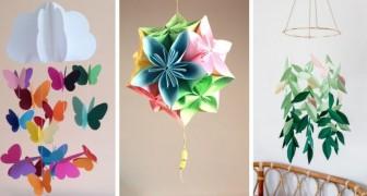 10 progetti fai-da-te pieni di colore e allegria per decorare casa con la carta