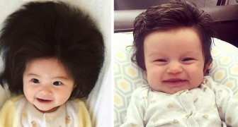 Hairy Babies: 17 photos of babies who already had a full head of hair when they were born